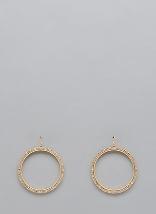 Ring Off The Hook Jeweled Earrings