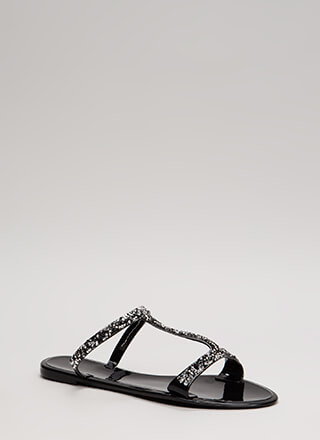 Sparkles Ignite Jeweled Jelly Sandals