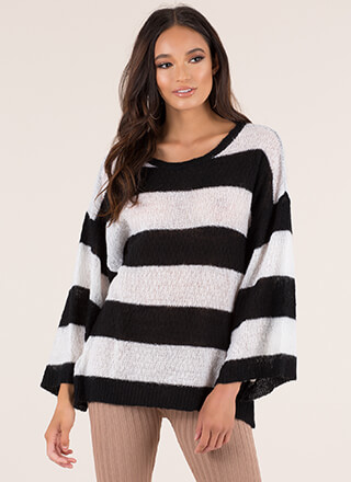 Feeling Relaxed Striped Knit Sweater