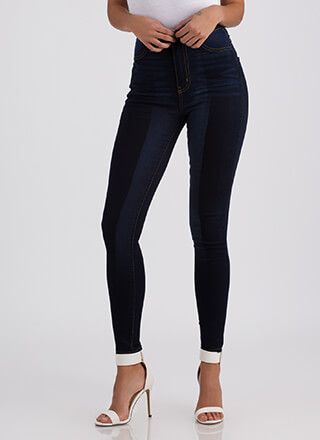 Wash Over Me Two-Toned Skinny Jeans