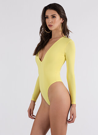 Side Effect High-Cut Thong Bodysuit