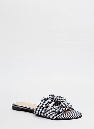 Picnic Ready Knotted Gingham Sandals