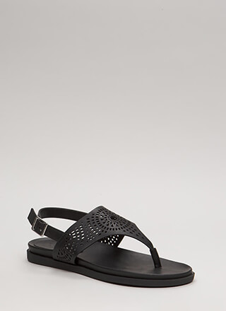 New Mission Laser-Cut Thong Sandals