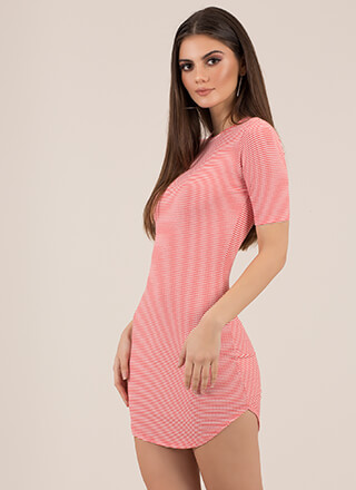 Too Easy Striped Round Hem Dress