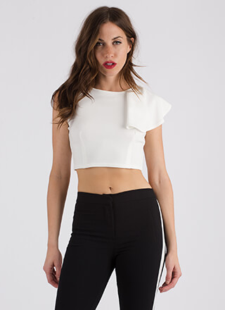 It Only Takes One Ruffled Crop Top