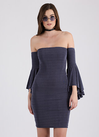 The Drama Off-Shoulder Bell Sleeve Dress