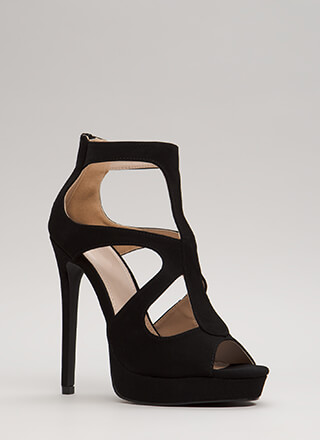 A Cut-Out Above Caged Platform Heels