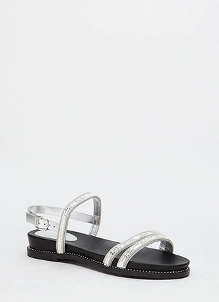 Mirror Mirror Shiny Embellished Sandals
