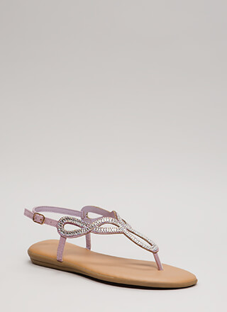 In The Loop Padded Jeweled Sandals