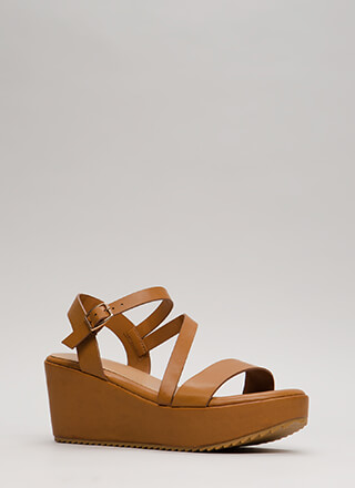 New Collection Strappy Platform Wedges