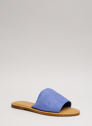 Going Afoot Faux Suede Slide Sandals