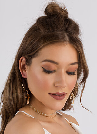 Double Crossed Earring And Choker Set