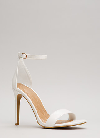 Simply Timeless Faux Leather Heels