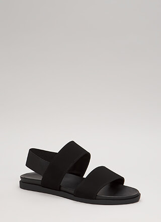 Too Easy Stretchy Faux Nubuck Sandals