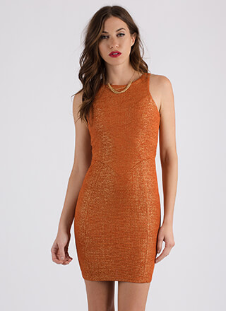 Take A Shine To You Shimmery Dress