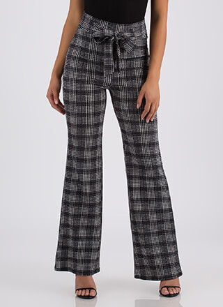 Funny Business Houndstooth Plaid Pants