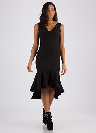 All The Right Places Flared Hem Dress
