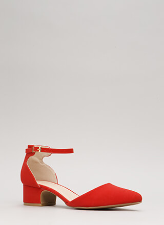 Short And Sweet Pointy Block Heels