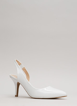 One-Sided Argument Slingback Heels