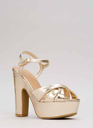 Ready To Retro Metallic Platforms