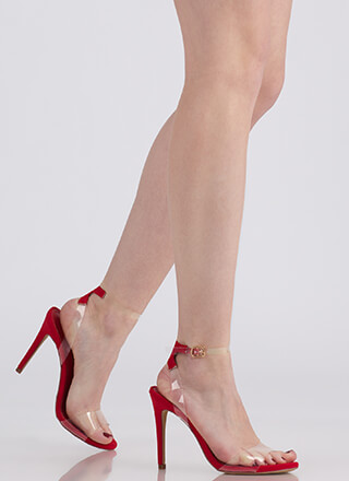 Illusion Revealed Clear Strap Heels