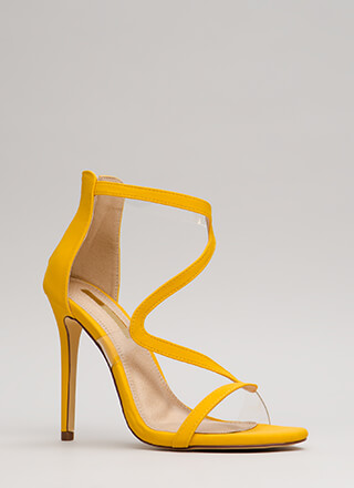 Winding Road Strappy Illusion Heels