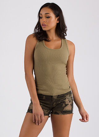 Basic Principles Ribbed Tank Top