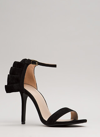 Ruffle Around The Edges Strappy Heels