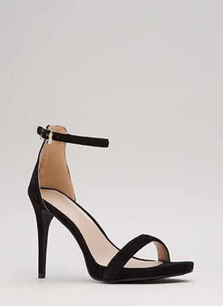 Out Tonight Velvet Ankle Strap Heels