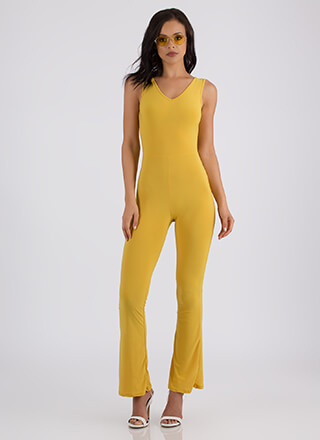 V Is For Victory Flared Jumpsuit