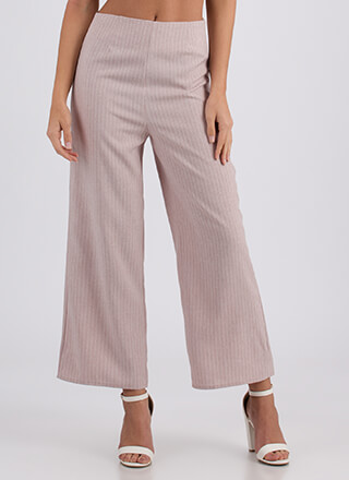 Along These Lines Wide Pinstriped Pants