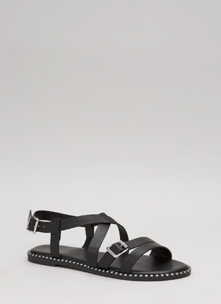 Lead The Way Strappy Buckled Sandals