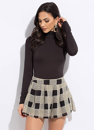 Check These Out Flared Plaid Shorts