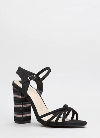 Chance Encounter Chunky Stacked Heels