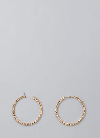 Just Sparkle Faux Diamond Hoop Earrings