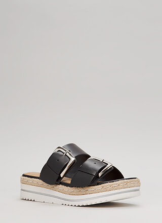 Big Leagues Platform Slide Sandals