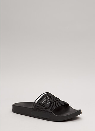 The Right Cords Platform Slide Sandals