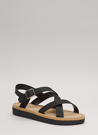Sunday Stroll Strappy Caged Sandals