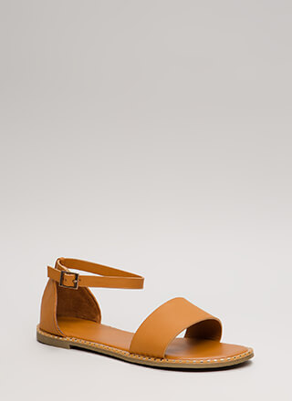 Maximum Style Strappy Trimmed Sandals