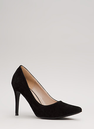 Easy Decision Pointy Faux Suede Pumps