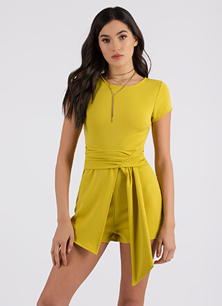 Sashed Away Asymmetrical Romper