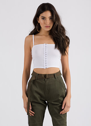Totally Hooked Cropped Tank Top