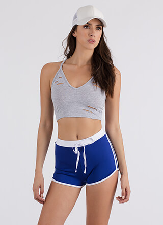Slits Really Happening Cropped Tank Top