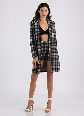 Plaid Vibes Only Blazer Jacket