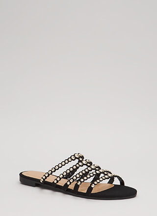 Private Cabana Studded Caged Sandals