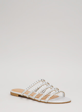 Private Cabana Glittery Studded Sandals