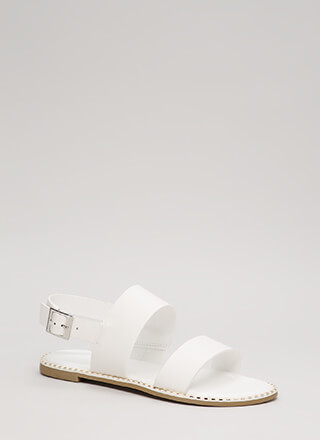 Minimal Aesthetic Metallic Trim Sandals