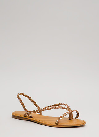 Pure Happiness Braided Slingback Sandals