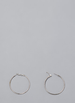 Necessity Skinny Hoop Earrings