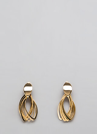 Bundle Up Almond-Shaped Earrings